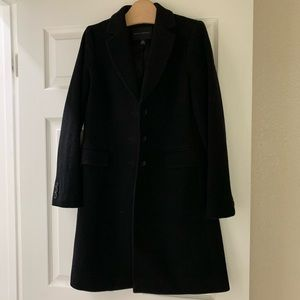 Banana Republic black wool coat